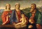 Maria mit dem Kind, Heiligen und dem Stifter
