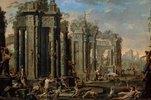Bacchanal vor antiken Ruinen. 1710-er Jahre