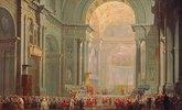 Inneres einer Kirche in Rom. (Petersdom?)