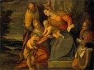 Die Hl. Familie mit der heilgen Elisabeth und Johannes dem Täufer