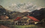 Bauernhütte in den Bergen