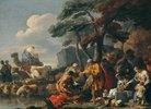 Jakob begräbt die fremden Götter unter der Eiche von Shechem