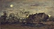Abend in Honfleur. 1860-er Jahre