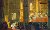 Die Krönung der Zarin Maria Fjodorowna am 05. April