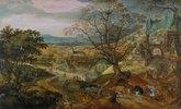 Landschaft mit Kirchdorf (= Der Herbst)