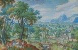 Landschaft mit Jakob am Brunnen