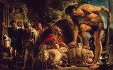 Odysseus in der Höhle des Polyphem