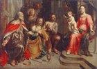Vier Sünder vor der Madonna