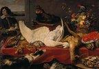 Stillleben mit totem Schwan. 1640er Jahre