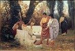 Der römische Dichter Catull liest eines seiner Gedichte