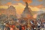 Karneval in Paris zu Ehren der russischen Marine am 05. Oktober