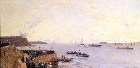 Die Ankunft des Zaren Alexander II. in Sewastopol