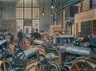 In der Traktorenfabrik