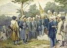 Der kaukasische Heerführer Shamil ergibt sich dem Fürsten Barjatinsky