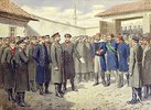 Verwundeter osmanischer Pascha nach dem Fall von Plevna vor Zar Alex. II