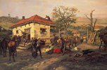 Szene aus dem russisch-türkischen Krieg
