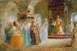 Die Brautsuche des Zaren Alexej Michailowitsch. 1887.