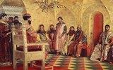 Zar Mikhail Fjodorowitsch mit Bojaren