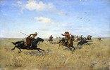 Kampf zwischen den Saporoscher Kosaken und den Tataren
