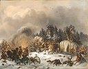Szene aus dem russisch-französischen Krieg