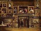 Ansicht der Galerie des Erzherzogs Leopold in Brüssel (III). Lwd.,95x126cm