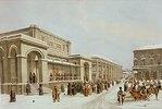 Die neue Börse und die Arkade in Moskau. 1830-er Jahre