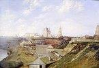Blick auf die Zitadelle von Rjasan. 1840-er Jahre
