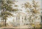 Der Pavillon in der Eremitage von Schloss Peterhof. 1850-er Jahre