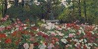 Blumengarten in Abramzevo. 1800er Jahre