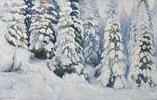 Wintermärchen (verschneite Tannen). 1913
