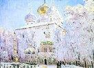 Winter in der Trinitäts-Sankt-Sergius Lavra in Sergiev Posad
