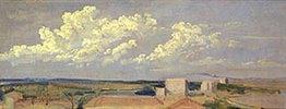 Wolken über weiter Landschaft