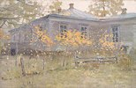 Russische Datscha im Herbst
