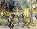 Auf einem abendlichen Boulevard in Paris. Ende 1910-er Jahre