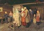 Taufe in einer russischer Stube