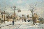 Strasse von Louveciennes im Schnee