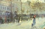 Auf einem Boulevard in Paris