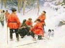 Bärenjagd im Winterwald