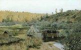 Wassermühle in herbstlicher Landschaft