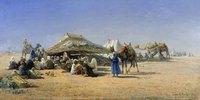 Beduinen mit Zelten bei Kairo