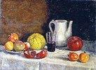 Stillleben mit Granatapfel. Ende 1930-er Jahre