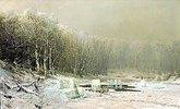 Eisernte auf einem winterlichen See
