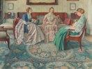 Drei Damen in einem vornehmen Interieur