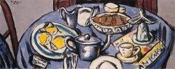 Frühstückstisch (blau)