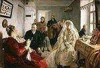 Vor der Trauung. 1880-er Jahre