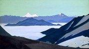 Bergnebel im Himalaya