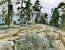 Felsenlandschaft in Finnland
