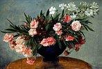 Stillleben mit Oleander-Strauss