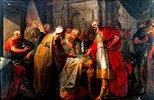 König Ezechias prahlt mit seinen Schätzen