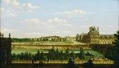 Der Tuillerien-Garten und die Tuillerien in Paris